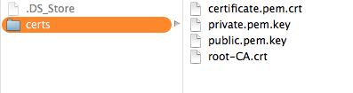 Rename and put those certificates in a folder
